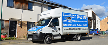 Luton Van with Man