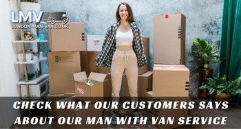 Guys from Man with Van London were hard working